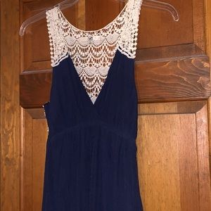 Maxi dress navy with lace by Ya